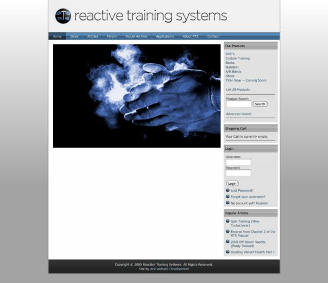 Reactive Training Systems Website