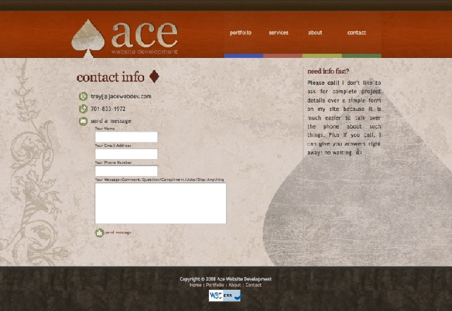 Ace Website Redesign